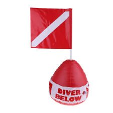 Diver Below Inflatable Float with Pvc Dive Flag for Scuba Diving, Snorkeling