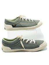 Teva Freewheel Washed Canvas Green Desert Sage Sneakers Shoes Size 9.5