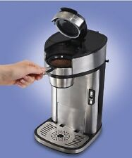 Coffee Maker Single Scoop Brewer Small Kitchen Appliance Stainless Steel Silver