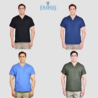Unisex Men/Women Classic Scrub Top Medical Nursing Hospital Uniform V-Neck Shirt