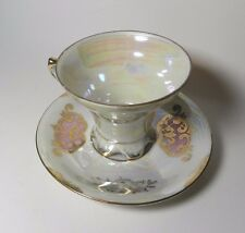 Royal Crown Lustreware Footed Tea Cup & Saucer - Made in Japan