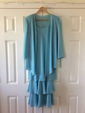 Cattiva New York U.K. Size 10 Mother Of The Bride Turquoise Aqua Designer Outfit