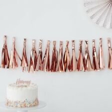 ROSE GOLD TASSEL GARLAND - Birthday,Baby Shower,Hen Party Venue Deco, Backdrop