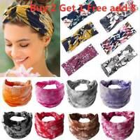 Womens Twist Knot Headband Elastic Wrap Turban Hair Band Hairband Accessories UK