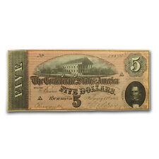 1864 $5.00 (T-69) Capitol @ Richmond, VA XF