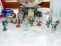 (8) LEMAX Christmas Figures - Village People: Children, Painter, Skaters, & More