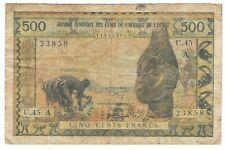 Ivory Coast - 500 Francs, 1961-64
