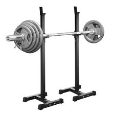 2Pcs Squat Rack Adjustable Bench Press Weight Exercise Barbell Stand Gym Fitness