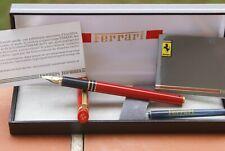 SPLENDIDE rare stylo plume or FERRARI FORMULA laqué rouge NEUF