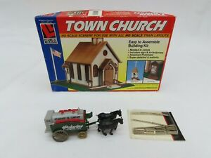 Life-Like Trains HO 1/87 Scale Town Church. No.1350. Model Kit, Unassembled.