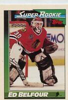 Ed Belfour 1991-92 Topps Super Rookie #4 Chicago Blackhawks