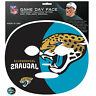 NFL Jacksonville Jaguars Game Day Face Full Temporary Tattoo Decal Football