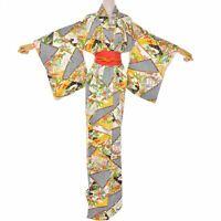 Medallion Floral Vintage Japanese Obi Kimono Belt Fukuro Style Silk Sash