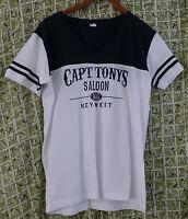Capt Tony's Saloon Built 1851 Key West Cotton V Neck T Shirt Women's 2 XL
