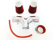 DUAL RED For 1997-2000 Chevy Corvette C5 5.7L V8 Twin Air Intake Kit + Filter