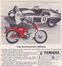 1965 SHELBY COBRA DAYTONA COUPE  ~  ORIGINAL SMALLER YAMAHA AD