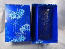 Vintage Bohemia Hand Cut Lead Crystal 200mm Vase NIB