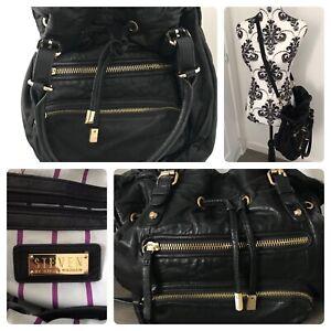 Steven by Steve Madden genuine leather large black handbag soft slouchy grab Bag