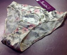 "Women Panties,Bikinis""Ilusion""Size XL Floral Satin Soft Shiny W/Decoration Mexic"