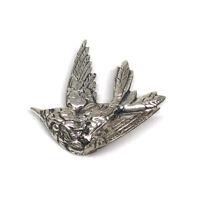 Vintage 925 Sterling By Jewelart Bird Brooch Pin