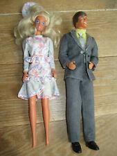 """Années 1980 LOT Super Poupées Mannequin BARBIE """"Mode de Paris"""" & KEN """"Star Club"""""""