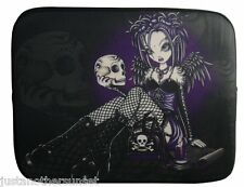 Myka Jelina Gothic Fairy Purple Black Emo Sugar Skull Tablet Ipad Sleeve Case