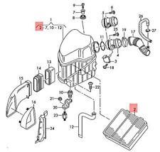 Genuine AUDI A8 S8 Quattro air filter 4E0129620E