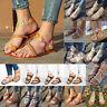 US Hot Bohemian Flat Flip Flops Sandals Women Bandages Casual Beach Shoes Summer