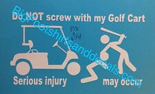 Golf Cart Decal Protection Beach Buggy Golfing Surfing Car Truck Window Sticker