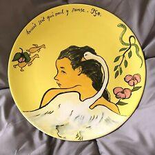 """Lovely GIEN Gauguin 12"""" Dinner or Charger Plate(s)"""