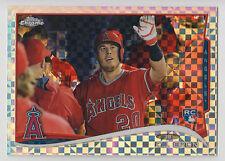 CJ CRON 2014 Topps Chrome Baseball Xfractor Card #151 Angels