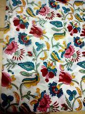 10Yard Hand Block Cotton Print Material Sewing Running Sanganeri Natural Fabric+