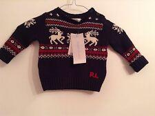BNWT 100% originale Ralph Lauren, Baby Boy splendido maglione con logo. 6 MTS. RRP £ 140