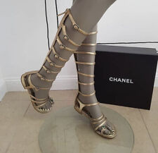 CHANEL  Gladiator Sandals Sz 40 AUTH