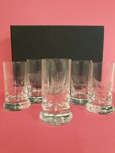 Set Of Six Shot Glasses In Wooden Box Wildlife Themed