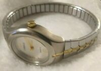 Carriage by Timex Womens Analog Watch Steel Expansion Bracelet w Fresh Battery!