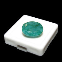 8.60Cts Natural Oval Cut Colombian Green Emerald Loose FREE Gemstone BOX  AS 125