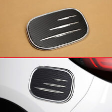 For New Mazda CX5 KF Carbon Fiber Fuel Tank Cap Gas Oil Cover Lid Overlay