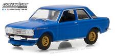 Greenlight 1:64 Tokyo Torque 1968 Datsun 510 Street Racer Blue with Gold Wheels