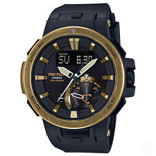 CASIO PRO TREK Triple Sensor Solar Vintage Gold Bezel Watch ProTrek PRW-7000V-1