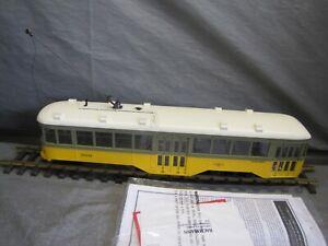 "Bachmann G scale ""LS"" Peter Witt Street Car Los Angeles Railway #91702"