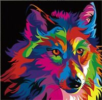 5D Diamond Painting Part Drill DIY Wolf Embroidery Cross Stitch Kits Wall Decor