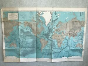 1975 Physiographic Map Of Earth. Moon Mercury Mars Phobe From Burgess Publishing