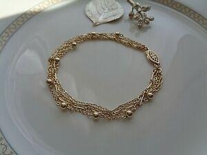Gold Armband, 585 Gold Filled,mehrreihig, edles Design