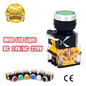 LA38-11DT Druckknopfschalter LED-Anzeigelampe Momentane Verriegelung NO + NC