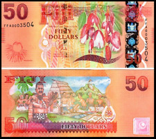 FIJI 50 DOLLARS $50 2013 Flora & Fauna Bank Note p118 Currency UNC