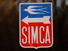 """PB17 PLAQUES PUBLICITAIRE tolée : """"L'age d'or de l'Automobile"""": SIMCA 29*21cm"""
