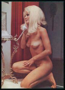 Pinup pin up VIOLA nude woman original old 1950s Daily Girl Press postcard