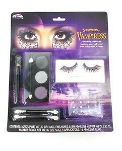Women's Shimmering Vampiress Eyelash & Makeup Kit Glitter Vampire Queen Costume