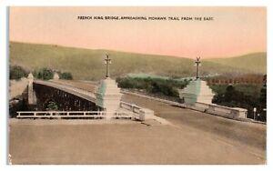 French King Bridge, Mohawk Trail, MA Hand-Colored Postcard *6L(3)24